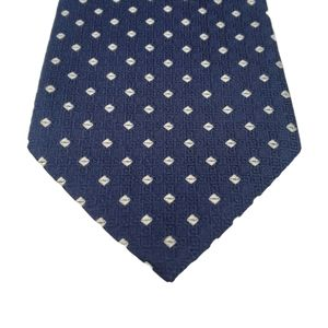 Brooks Brothers Blue Silver Geometric Tie